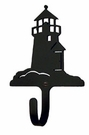 Wall Hook, Lighthouse, Wrought Iron, Extra Small, Decorative