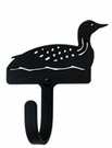 Wall Hook, Loon, Duck, Wrought Iron, Extra Small, Decorative