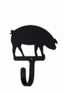 Wall Hook, Pig, Wrought Iron, Extra Small, Decorative