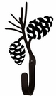 Wall Hook, Pinecone, Wrought Iron, Extra Small, Decorative
