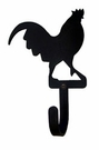 Wall Hook, Rooster, Wrought Iron, Extra Small, Decorative