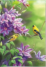 Garden Flag, Spring / Summer, Birds, Finch Pair