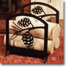 FIREPLACE WOOD / LOG RACKS, Wrought Iron