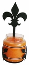 Wall Sconce, Candle Jar Holder, Fleur-De-Lis, Wrought Iron