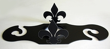 Wine for Two, Wine Glass Holder, Fleur-De-Lis, Wrought Iron