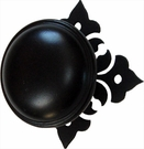 Cabinet Door / Drawer Knob, Floral, Wrought Iron