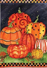 Garden Flag, Autumn, Fall, Painted Pumpkins