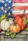 Garden Flag, Patriotic Pumpkins, American Flag, Autumn, Fall