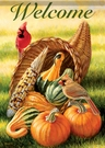 Garden Flag, Thanksgiving, Cornucopia, Autumn, Horn of Plenty, Welcome