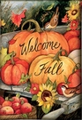 Garden Flag, Autumn / Fall, Welcome Fall Pumpkins, Garden Cart