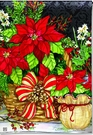 Garden Flag, Christmas Beauty, Poinsettias, Holiday Floral