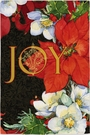 Garden Flag, Christmas, Joy, Poinsettias, Red, White