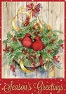 Garden Flag, Christmas, Season's Greetings, Cardinals