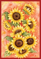 Garden Flag, Radiant Sunflowers, Autumn, Fall Floral