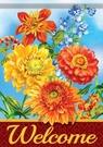 Garden Flag, Colors of Autumn, Welcome, Flowers, Floral, Double Sided