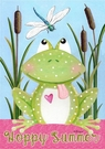 Garden Flag, Frog, Welcome to My Pad, Spring / Summer