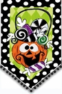 Garden Flag, Halloween, Candy Jack, Embellished