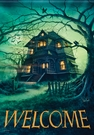 Garden Flag, Halloween, Haunted House, Mansion, Welcome