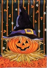 Garden Flag, Halloween, Jack-O-Lantern, Candy Corn, Witch Hat