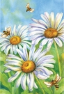 Garden Flag, Honey Bees & Daisies, Spring / Summer