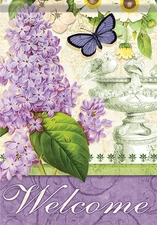 Garden Flag, Lilac Elegance, Welcome, Floral, Double Sided