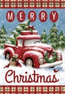 Garden Flag, Merry Christmas, Red Truck, Snow, Wreath & Presents
