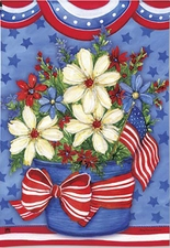 Garden Flag, Patriotic, American Beauty, Flowers, Floral