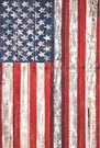 Garden Flag, Patriotic, American Flag, Fence, Rustic, Country