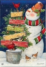 Garden Flag, Snowman, Signs of Christmas, Holiday