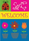 Garden Flag, Ladybug, Flowers, Signs of the Season, Embellished