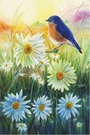 Garden Flag, Bluebird at Sunrise, Spring / Summer