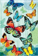 Garden Flag, Spring / Summer, Butterfly Flight, Butterflies