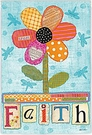 Garden Flag, Spring, FAITH, Americana, Applique Look