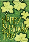 Garden Flag, St. Patrick's Day, Clovers, Shamrocks