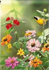 Garden Flag, Birds, Flowers, Spring / Summer, Garden View