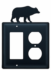 GFI and Outlet, Bear, Wrought Iron