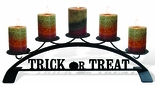 Pillar Candle Holder, Halloween, Wrought Iron