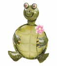 Happy Turtle with Flower, Indoor / Outdoor