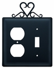 Outlet and Switch Cover, Heart, Wrought Iron