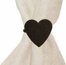 Napkin Ring, Wrought Iron, Heart, Set of 4