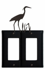 Double GFI Cover, Heron, Wrought Iron