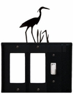 Double GFI and Switch Cover, Heron, Wrought Iron