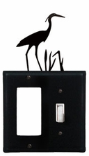 GFI and Switch Cover, Heron, Wrought Iron