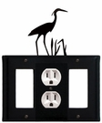 GFI, Outlet and GFI Cover, Heron, Wrought Iron