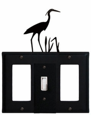 GFI, Switch and GFI Cover, Heron, Wrought Iron