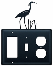 GFI, Switch and Outlet Cover, Heron, Wrought Iron