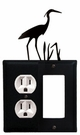 Outlet and GFI Cover, Heron, Wrought Iron