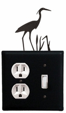Outlet and Switch Cover, Heron, Wrought Iron