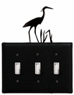 Triple Switch Cover, Heron, Wrought Iron