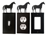 OUTLET, GFI, SWITCH COVERS, HORSE, WROUGHT IRON